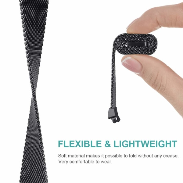 Fitbit Inspire/Inspire HR armband Milanesisk Loop Svart (S)