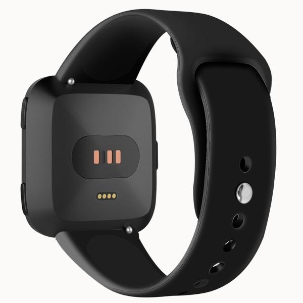 Fitbit Versa armband gummi Svart (S)