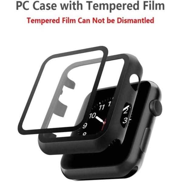 Skärmskydd Apple Watch 1/2/3 42 mm Svart