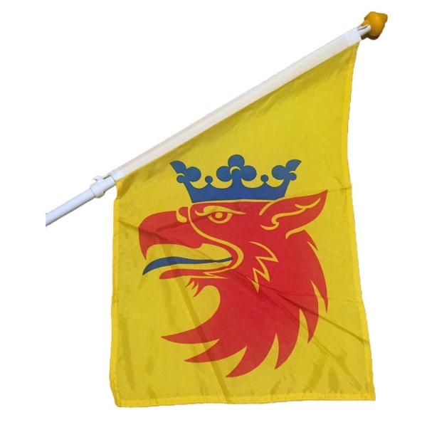 Fasadflagga Skåne Skånegripen landskapsflagga multifärg