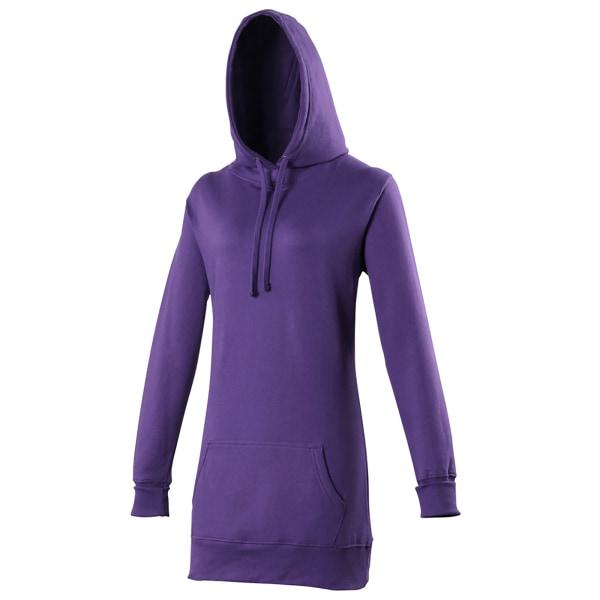 Awdis Girlie långärmad tröja / luvtröja dam dam purpur Purple S