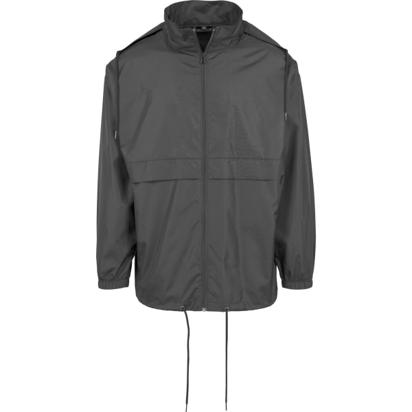 Build Your Brand Mens Nylon Windbreaker Jacket L Svart Black L