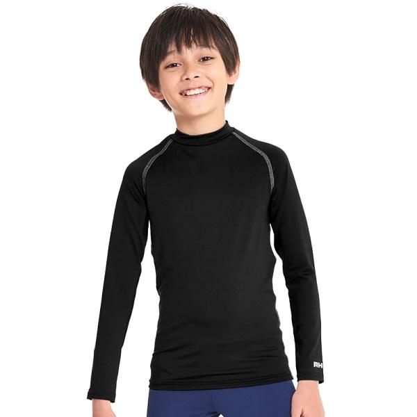 Rhino Childrens Pojkar Långärmad termisk underkläder Baslager Ve Black LY-XLY