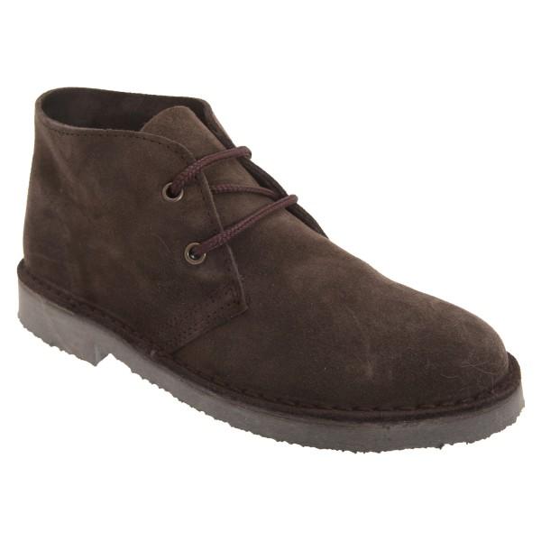 Roamers Vuxna Unisex Real Suede Unlined Desert Boots 7 UK Dark Dark Brown 7 UK