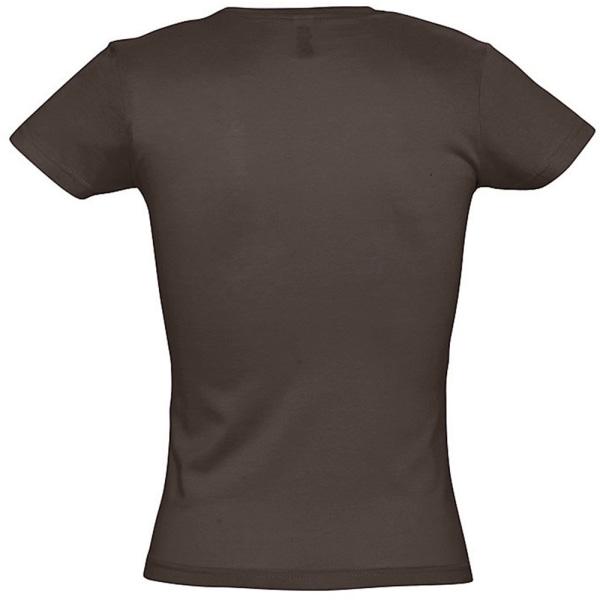 SOLS Kvinnor / damer Miss kortärmad T-shirt L Choklad Chocolate L