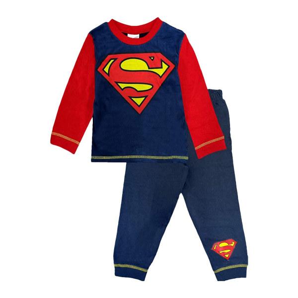 Superman Boys Logo Pyjamas 4-5 år Röd/Blå Red/Blue 4-5 Years
