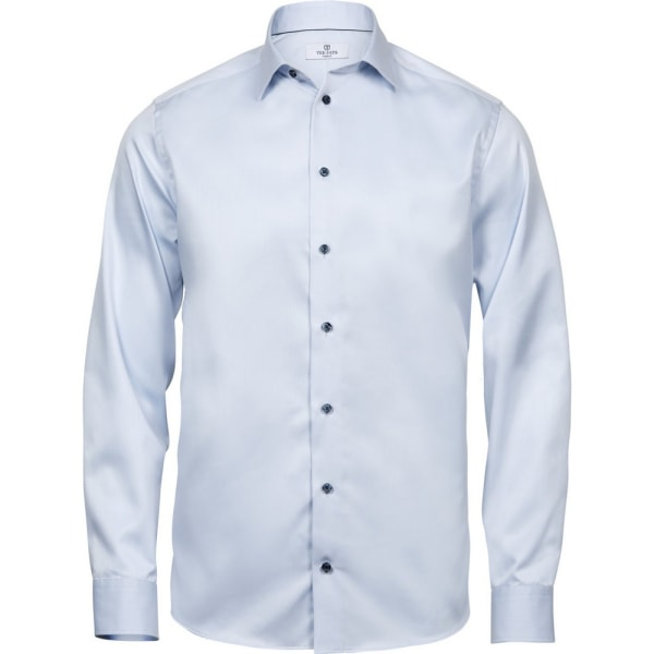 Tee Jays Mens Luxury Comfort Fit Shirt S Ljusblå/Blå Light Blue/Blue S