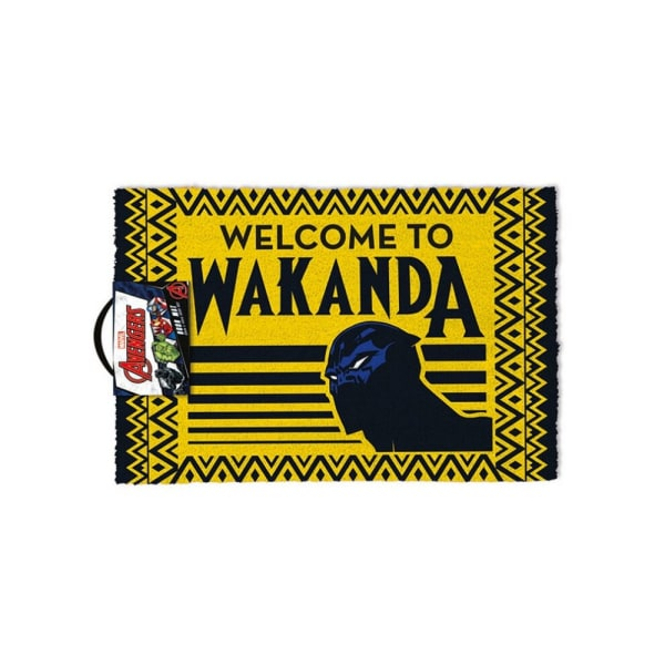 Black Panther Välkommen till Wakanda dörrmatta One Size Black / Yellow / Black/Yellow/Blue One Size