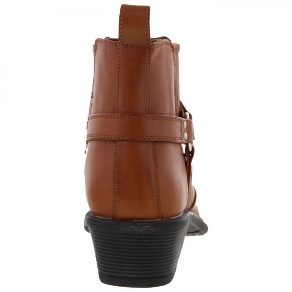 US Brass Mens Eastwood Cowboy Ankle Boots 8 UK Tan Tan 8 UK