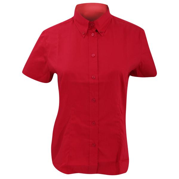 Kustom Kit Ladies Corporate Oxford kortärmad skjorta 24 Royal B Royal Blue 24