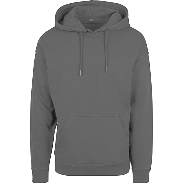 Build Your Brand Mens Oversize Hoodie M Charcoal Charcoal M