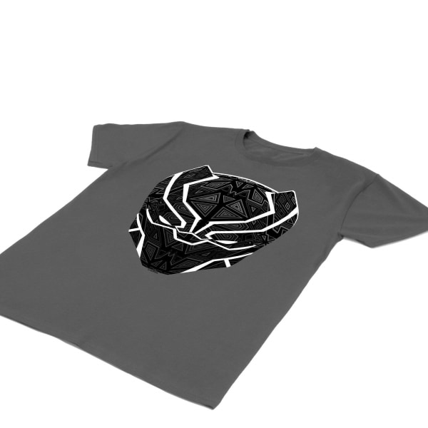 Black Panther Mens T´Challa Mask T-Shirt XL Charcoal Charcoal XL