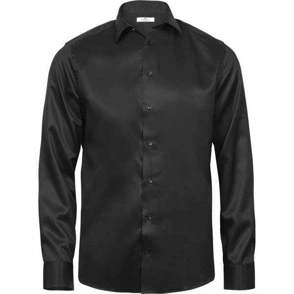 Tee Jays Mens Luxury Comfort Fit långärmad Oxfordskjorta XXL Bl Black XXL