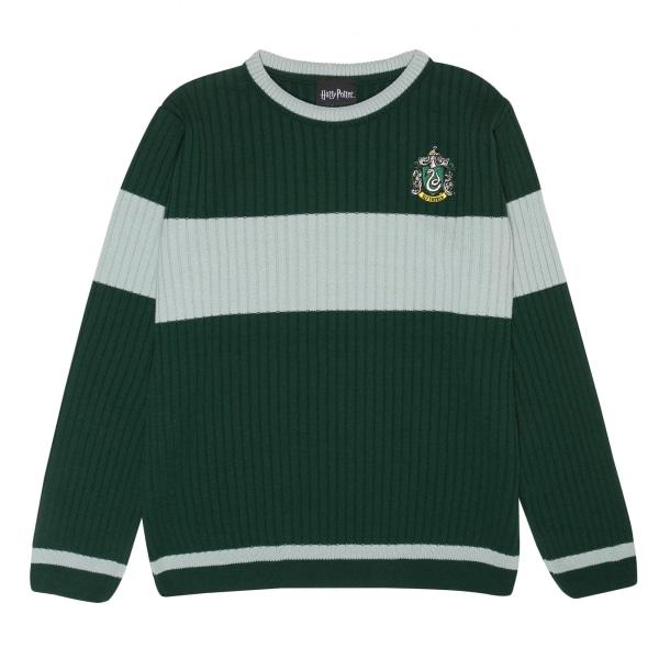Harry Potter Mens Slytherin Quidditch Stickad tröja XXL Grön / H Green/Heather Grey XXL