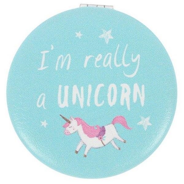 Något annorlunda Unicorn Compact Mirror One Size Blue Blue One Size