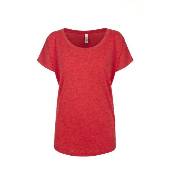 Next Level Damer / damer Tri-Blend Dolman T-shirt XS Vintage Red Vintage Red XS