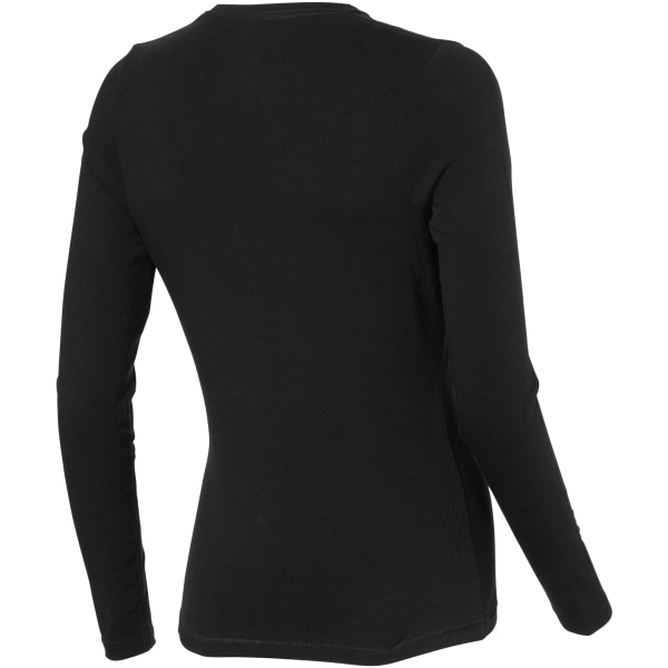 Elevate Ponoka långärmad T-shirt dam/dam XS Solid Black Solid Black XS