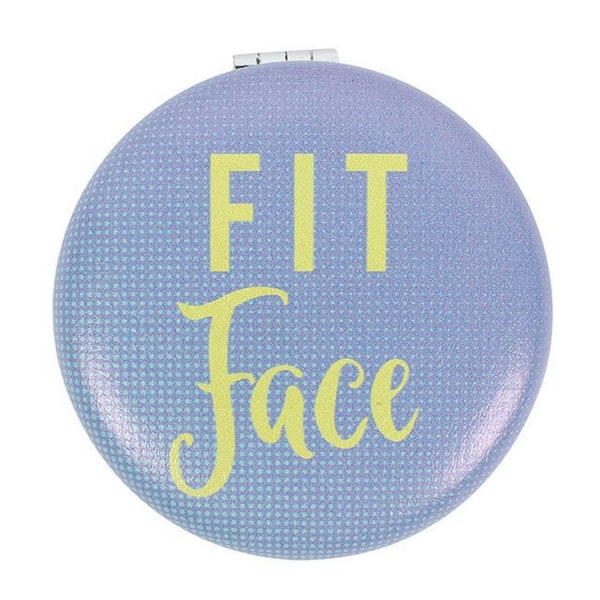Något annorlunda passande ansikts kompakt spegel En storlek blå / gul Blue/Yellow One Size