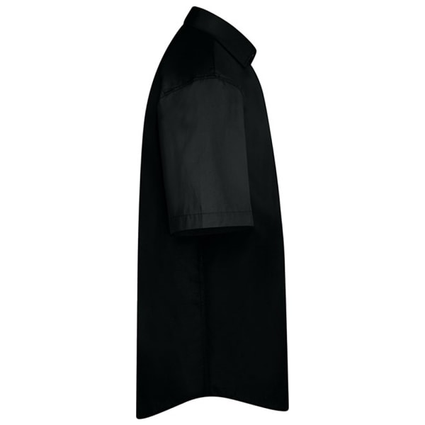 Absolute Apparel Mens Short Sleeved Classic Poplin Shirt XL Blac Black XL