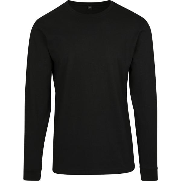 Build Your Brand Långärmad tröja för herrar XL Svart Black XL