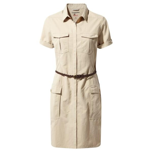Craghoppers NosiLife Savannah skjortklänning för damer / damer 8 UK Des Desert Sand 8 UK