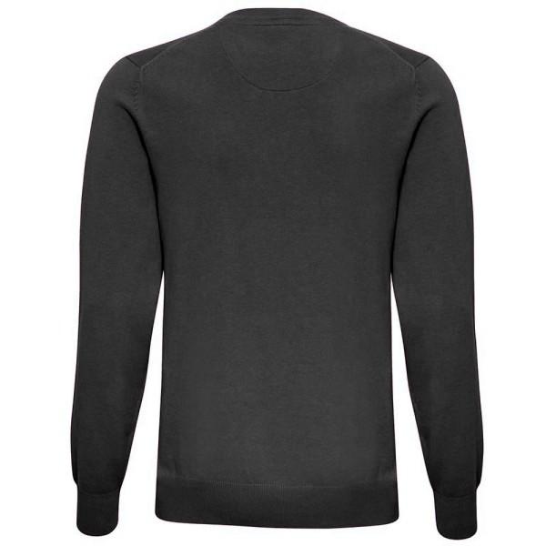 Asquith & Fox Herr bomullsrik v-ringad tröja XL Svart ljung Black Heather XL