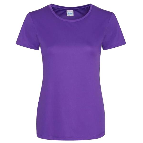 AWDis Just Cool dam / dam Girlie slät T-shirt M Lila