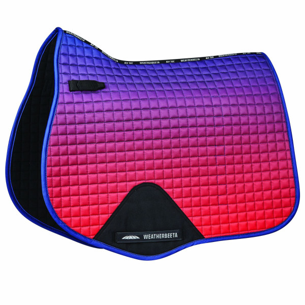 Weatherbeeta Prime Ombre Jump Shaped Saddle Pad Pony Blue / Red / Vi Blue/Red/Violet Pony