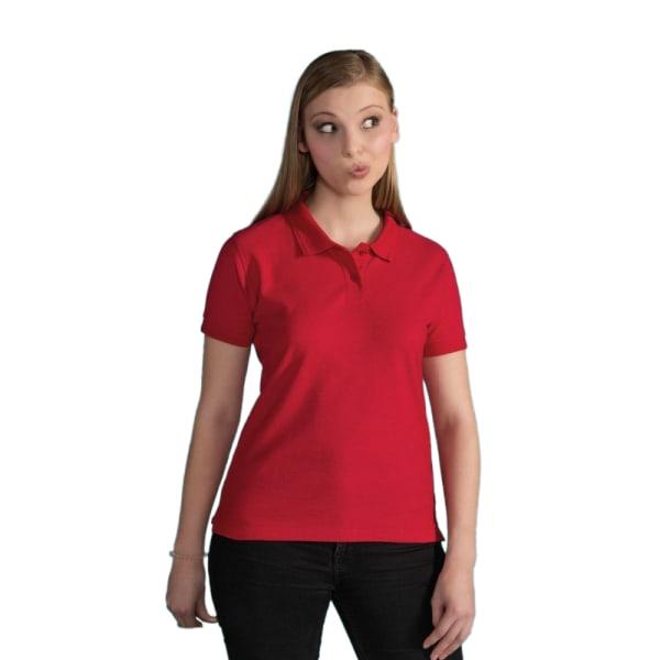 SG damer bomull kortärmad pikétröja XL röd Red XL