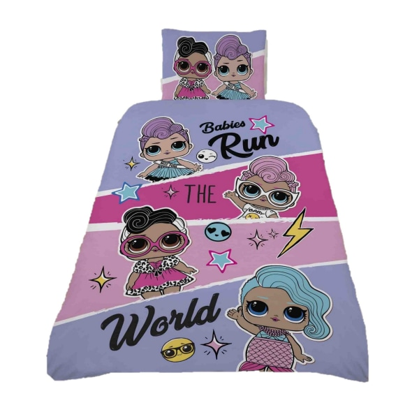 LOL Surprise Run The World Panel Påslakan Set Enkel Rosa / Pur Pink/Purple Single