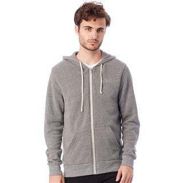 Alternative Apparel Mens Eco-Fleece Hoodie XL Eco Grey Eco Grey XL