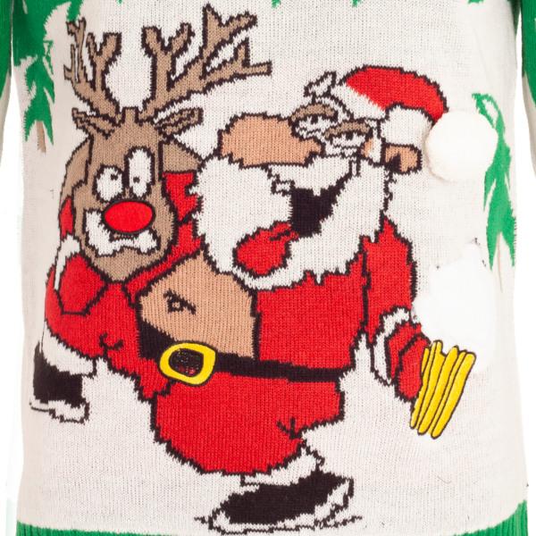 Brave Soul Herrar Jul Merry Blitzmas Jumper M Grön