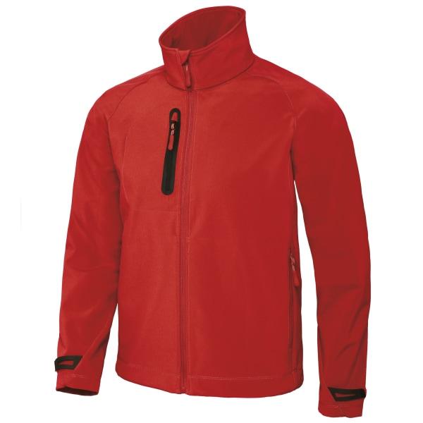 B&C Mens X-Lite 3 Layer Softshell Performance Jacket L Deep Red Deep Red L