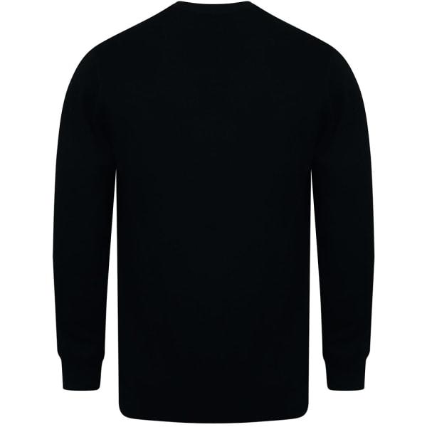 Henbury V-ringad herrmönstrad cardigan M Svart Black M