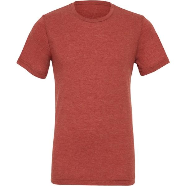 Canvas Mens Triblend Crew Neck Plain Kortärmad T-shirt M Clay Clay Triblend M