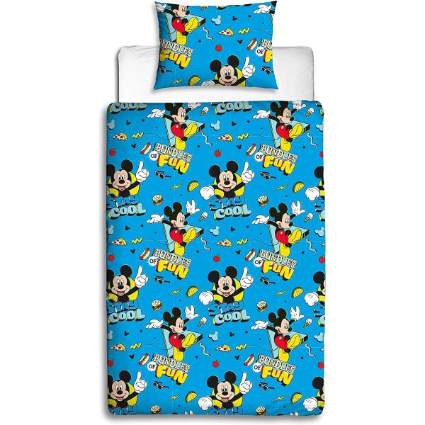 Mickey Mouse Stay Cool Påslakan Set Enkelblå Blue Single