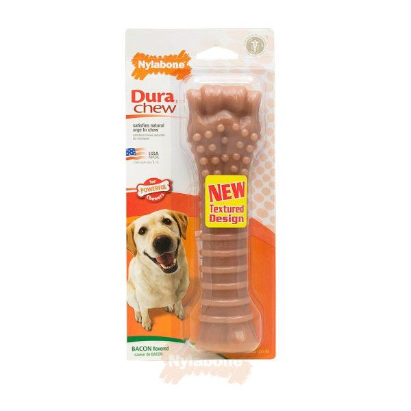 Nylabone Bacon Impregnerat Ben för större hundar One Size May Var May Vary One Size