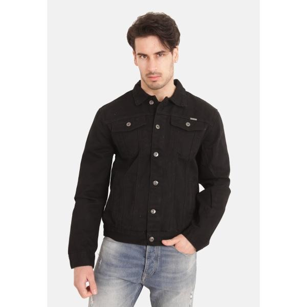 Duke Mens Kingsize Western Trucker Style Denim Jacket 4XL Svart
