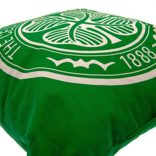 Celtic FC Crest Fylld kudde En storlek Grön/vit Green/White One Size