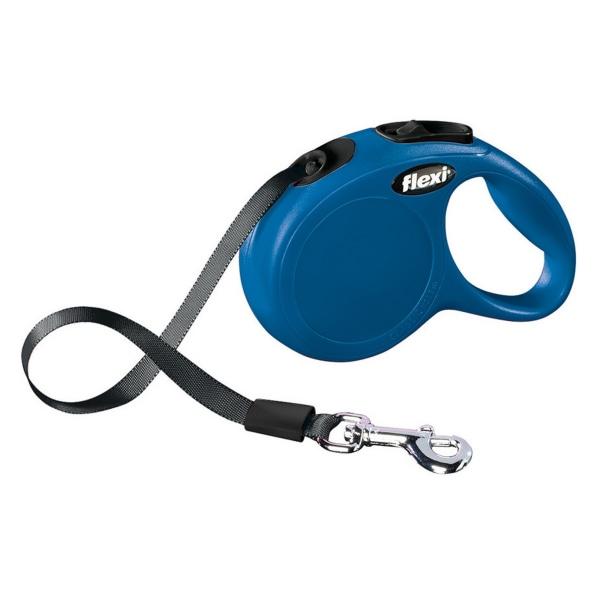 Bodgahn International Flexi New Classic Tape Dog Lead Small/5m B Blue Small/5m