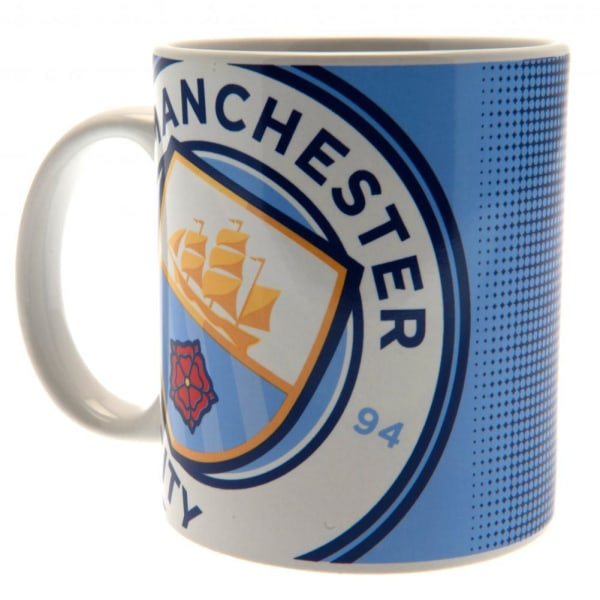 Manchester City FC Large Crest -mugg One Size Sky Blue Sky Blue One Size