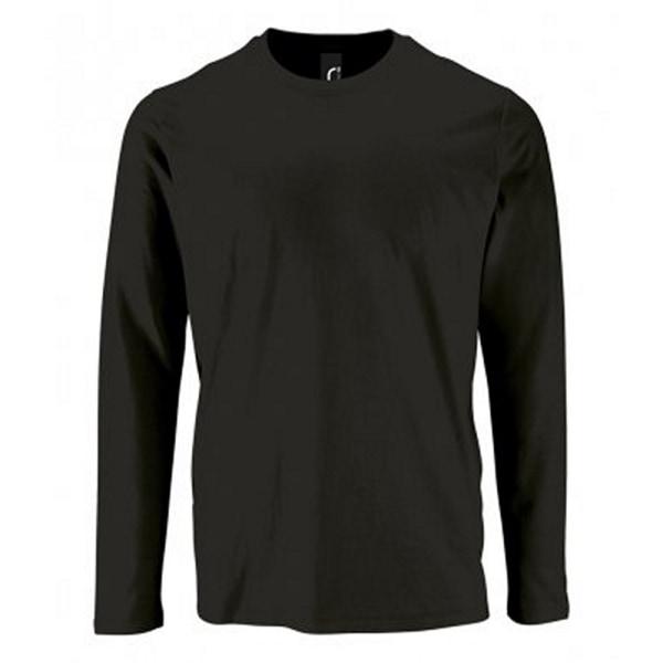 SOLS Mens Imperial långärmad t-shirt XXL djup svart Deep Black XXL