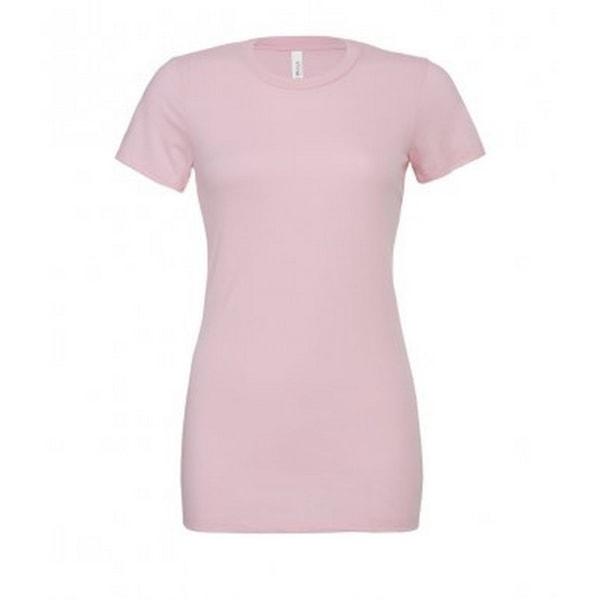 Bella + Canvas T-shirt för damer / damer avslappnad Jersey S Pink Pink S