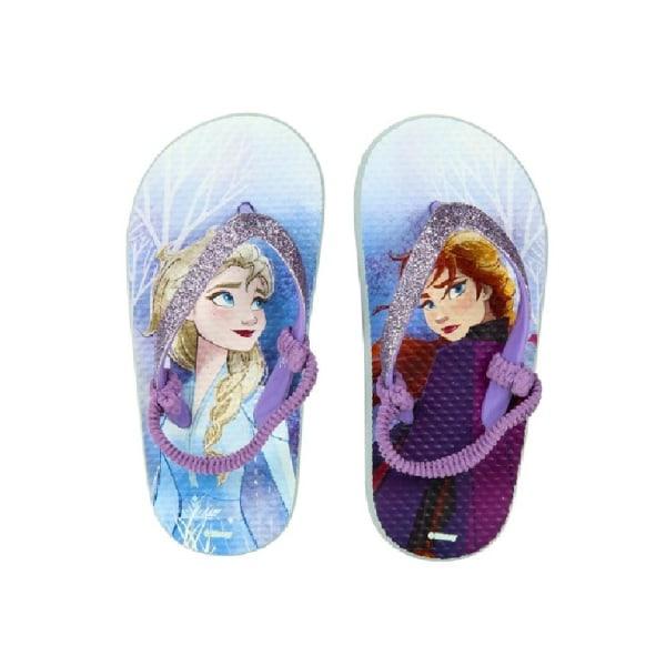 Frozen 2 Barn / barn Anna & Elsa Flip Flops 10-10.5 UK Child