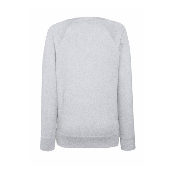 Fruit OF The Loom Ladies Fitted Lightweight Raglan Sweatshirt (2 Heather Grey XL