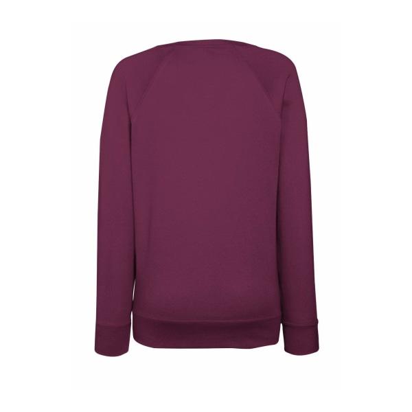 Fruit OF The Loom Ladies Fitted Lightweight Raglan Sweatshirt (2 Burgundy S