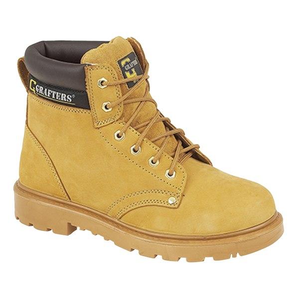 Grafters Mens Apprentice 6 Eye Safety Toe Cap Boots 7 UK Honey Honey 7 UK