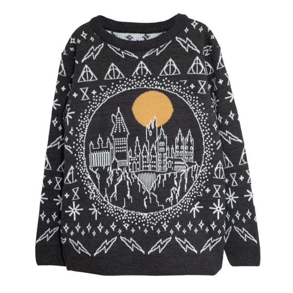 Harry Potter Mens Hogwarts Stickad julbygel 3XL Svart Black 3XL