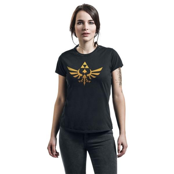 Nintendo Unisex Adult Hyrule Legend Of Zelda T-shirt L Svart