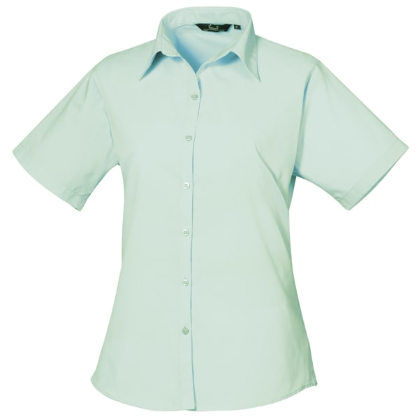 Premier Kortärmad Poplinblus / Plain Work Shirt 14 Aqua Aqua 14